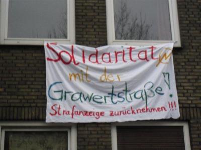 Solidaritätserklärung in der Hafenstra�e